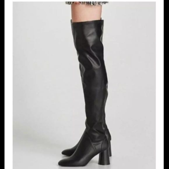 fe14333c253 Sexy Leather thigh highs heels
